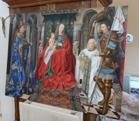 Dipinto a colori in olio di santi