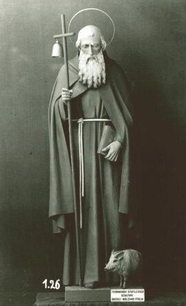 Immagine della Statua in legno di Sant'Antonio Abate