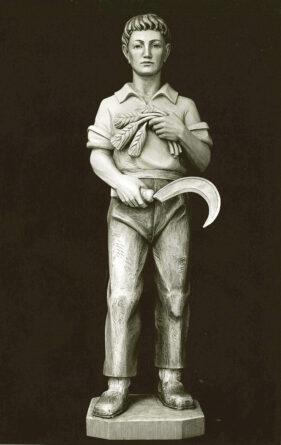 Scultura di Sant Isidoro l'Agricolo in legno