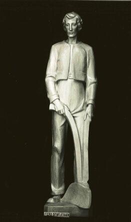 statua sant isidoro in legno ferdinand stuflesser